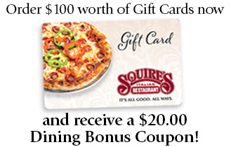 $20 bonus gift card with purchase of $100 in giftcards
